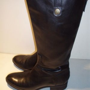 Sam Edelman Black Penny Leather Riding Boots 8.5 M